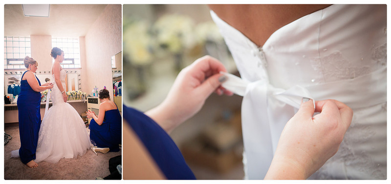 Prepartions for a wedding in downtown Rockford, Illinois at Trinity Lutheran Church. Wedding Photographer - Ryan Davis Photography
