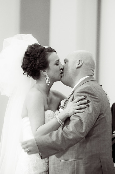 Wedding ceremony in downtown Rockford, Illinois at Trinity Lutheran Church. Wedding Photographer - Ryan Davis Photography