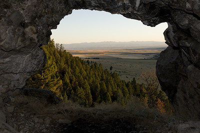 The view out of one of the larger caves.