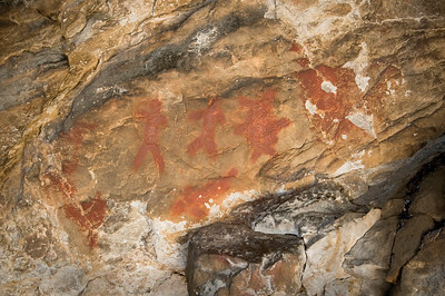 The pictograph above is thought to represent a human figure transforming into a bear.