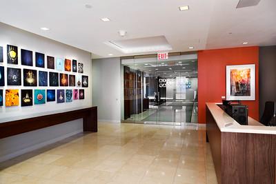 reception desk to entryway