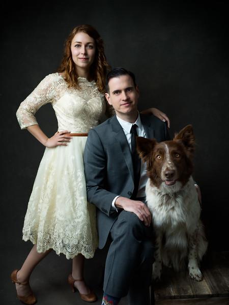 Caitlin, Chris, & their Dog