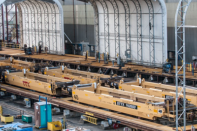 TTX railcar construction at Gunderson