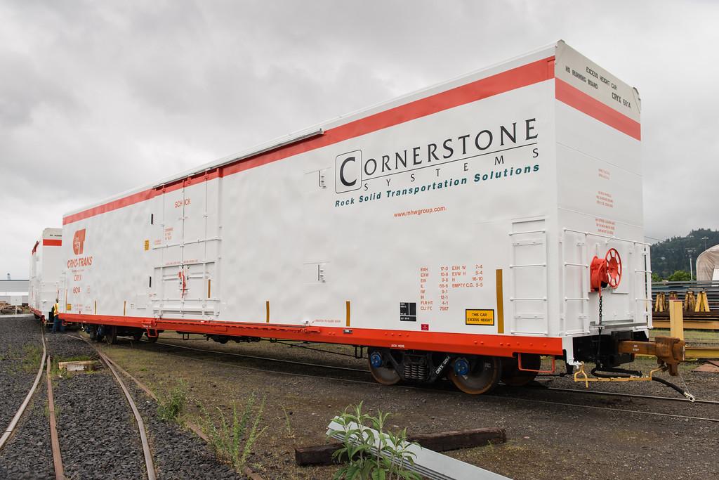 Cryo-Trans rail car, #6014, Schick, at Gunderson, 5/8/2014