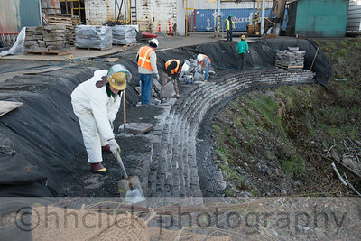 Wall extension, Area 2, Gunderson, riverbank, 11/25/2013