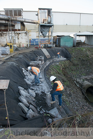 Wall extension, Area 2, Gunderson, riverbank, 11/23/2013