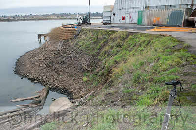 Wall extension, Area 2, Gunderson, riverbank, 11/18/2013