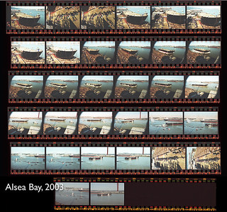 Launch of Sause barge, Alsea Bay, February 9, 2003
