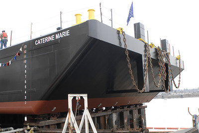 Launch of Shamrock barge Caterine Marie