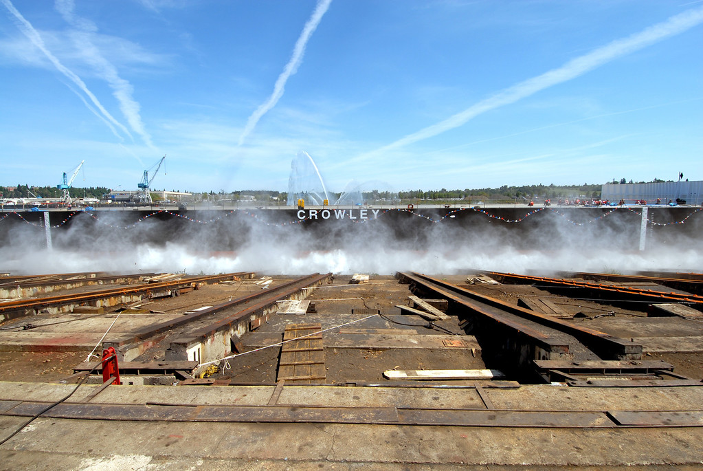 Launch photos of Crowley Barge #455 5