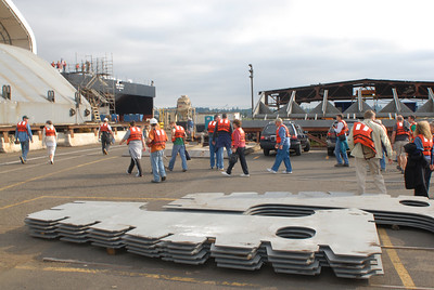 Launch festivities for Crowley barge 455 6