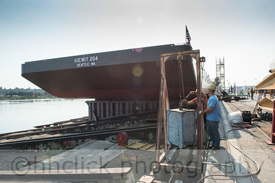 Kiewit 204 barge launch