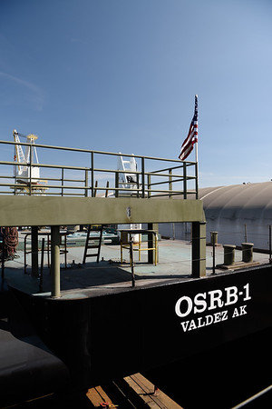 Launch of OSRB-1, August 19, 2017, at Gunderson Marine.