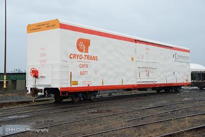 Cryo-Trans railcar #6077, Finn, at Gunderson