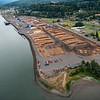 Aerial views, Teevin Bros. facility at Rainier, Oregon.