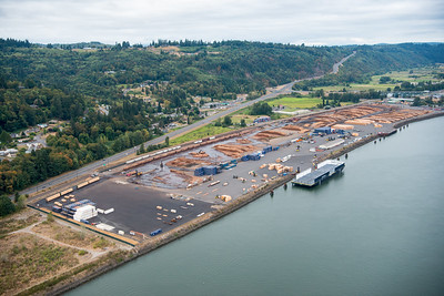 Aerial views, Teevin Bros. facility at Rainier, Oregon.