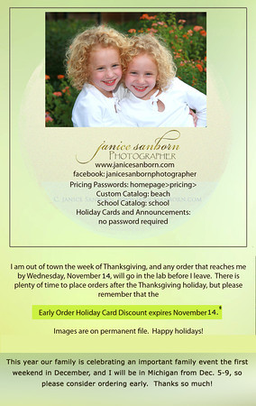 Fall 12 order reminder for galleries