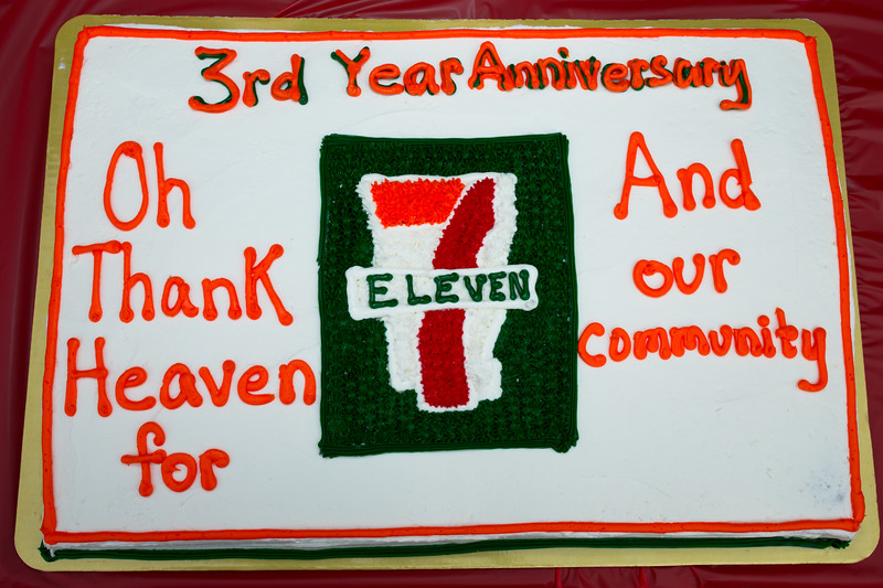 Peggy and Steven Celebrate 7-Eleven 3rd Anniversary
