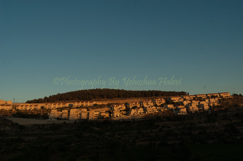 Sunset view of Efrat 118