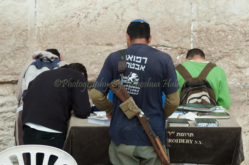 Prayer at Western Wall Kotel 547