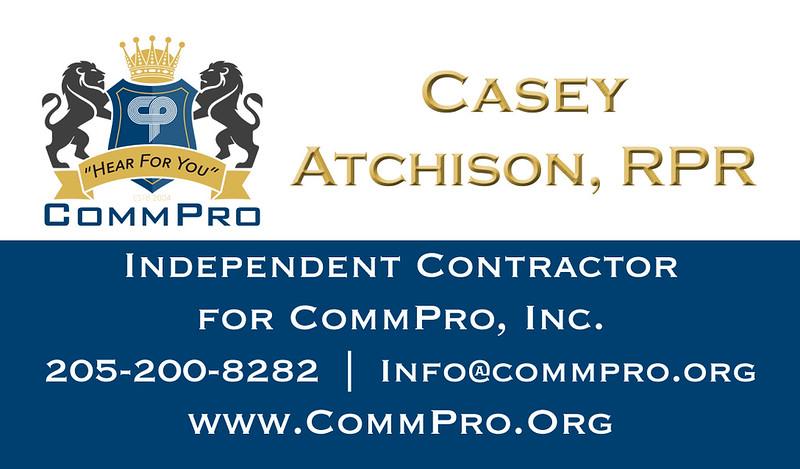 Casey Atchison, RPR