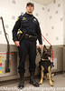 Mike Anderson and Marko, San Carlos, PD<br /> Man's Vest Friend Charity Event<br /> Petfood Express Dogwash - Redwood City
