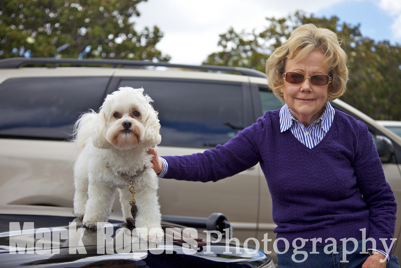 Burlingame City Clerk Mary Ellen Kearney and her dog, Walter
