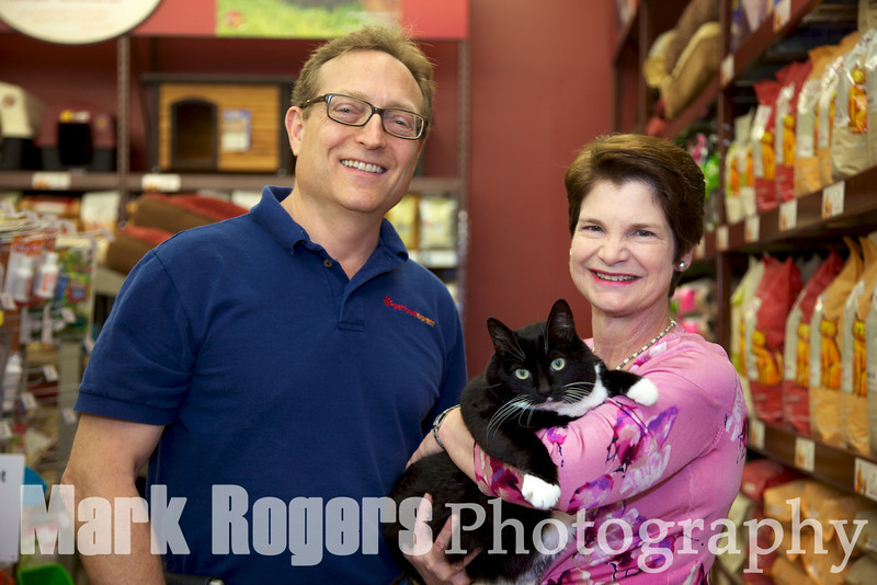 Michael Levy & Burlingame Vice Mayor, Terry Nagel with her cat Nadia