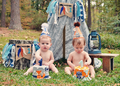 Heinemann twins turn ONE