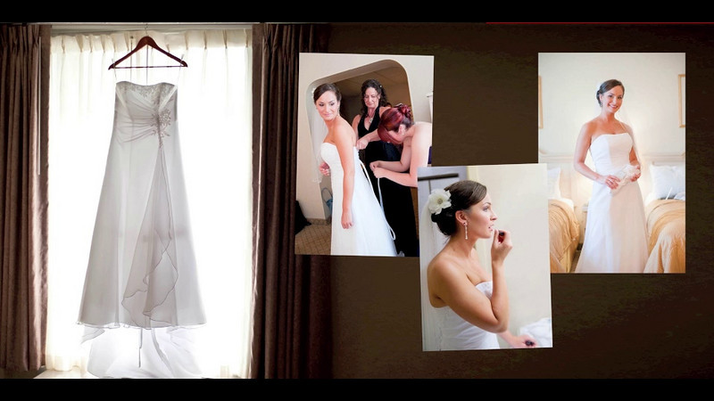Whitney & Frank's wedding book preview.