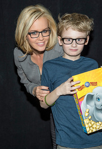 TV Host Jenny McCarthy and Son backstage at Barclay's Center