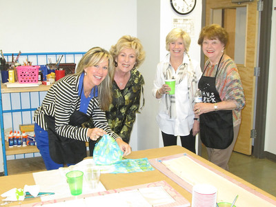 PennyAnne,Pat,Sally,Rose _scarfmaking