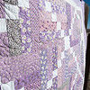 Purple 30s Quilt close up