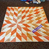 Orange Starburst all pieced