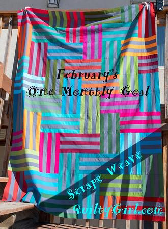 Serape Weave Quilt top