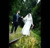 Callie & Joel - Wedding photographs at the railroad tracks Williams Community Park in Cobble Hill