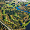 Aerial of Chena Bend golf course on Ft. Wainwright. Sept. 2016.
