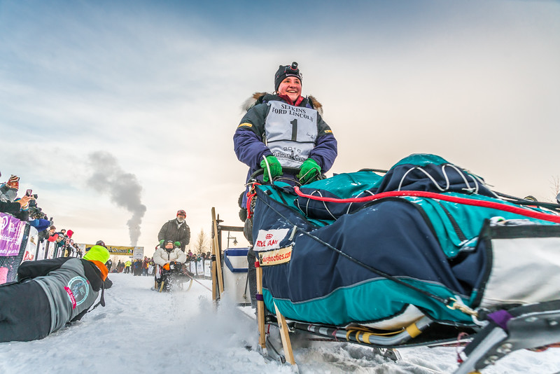 Yukon Quest start. Feb., 2016.