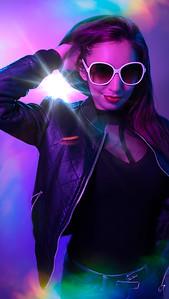 Modeling Portrait - Neon Fantasy