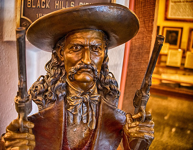 Wild Bill Hickok bust