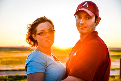 Eric and Krissy in the Badlands