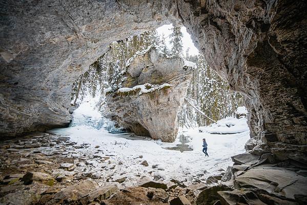 Winter Trail Running in Banff NP, Alberta 2020
