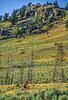 Biker near Blacktail Deer Creek in Yellowstone National Park - 24-Edit - 72 ppi