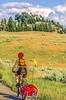 Biker near Blacktail Deer Creek in Yellowstone National Park - 25-Edit - 72 ppi