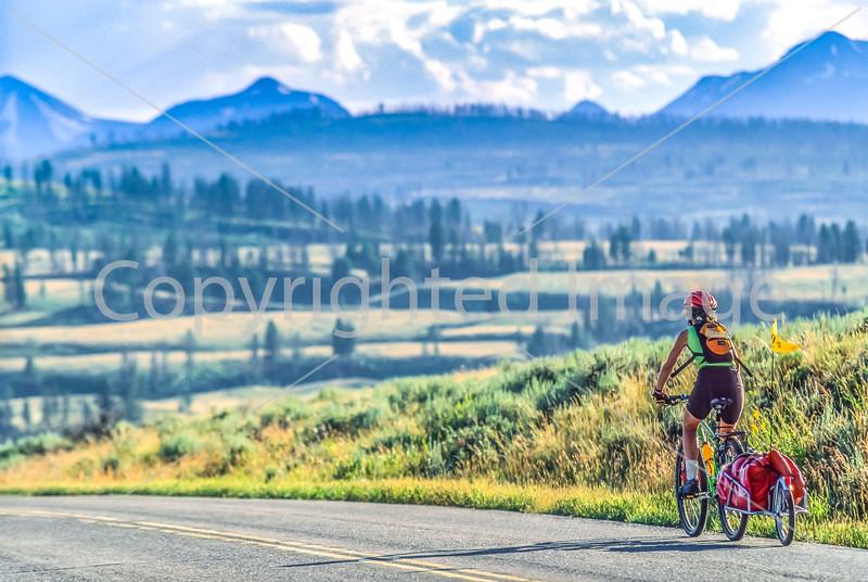 Biker near Blacktail Deer Creek in Yellowstone National Park - 26-Edit - 72 ppi
