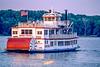 Paddlewheel steamboat on the Mississippi near Hannibal, Missouri - 1 - 72 ppi