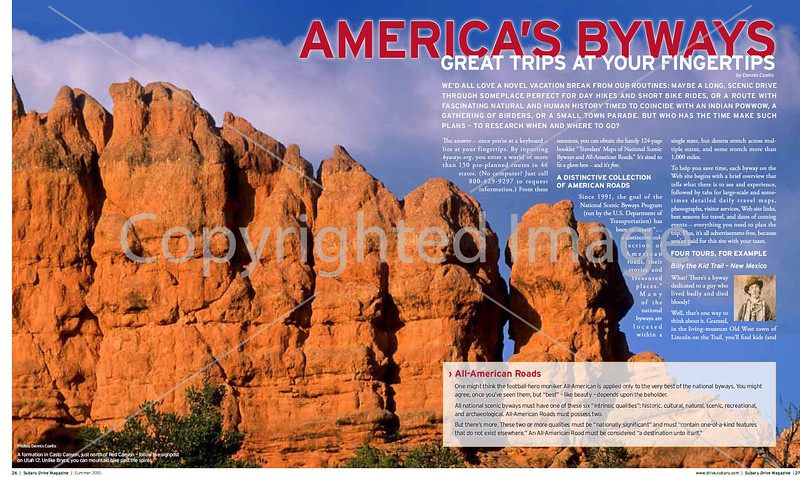 Subaru's Drive Magazine - America's Byways - Pages 1&2