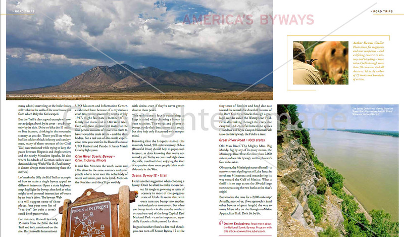 Subaru's Drive Magazine - America's Byways - Pages 3&4
