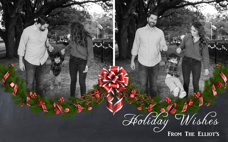 5x7 Flat Card Holiday Wishes