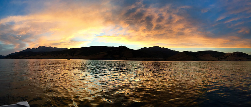 201608-25 – Derek and I ran up to do some bass fishing tonight on Deer Creek. I had a great time catching many small mouth bass, but the best was the sunset over the mountains to the west. Sometimes the iPhone doesn't do a great job of capturing the moment. This time it worked almost perfectly. I love the reflection off the water. It was beautiful.